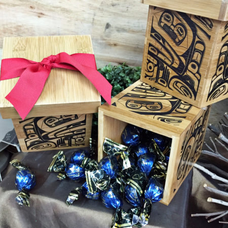 Native Truffle Bamboo Box - Vancouver Gift Baskets