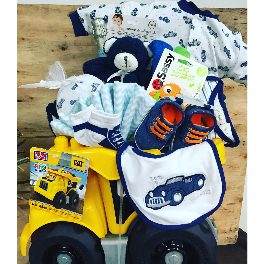 Baby Gift Baskets Vancouver : Dump truck delights vancouvergiftbaskets