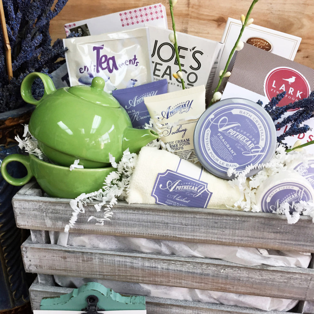 Bathtime with Tea Vancouver Gift Basket
